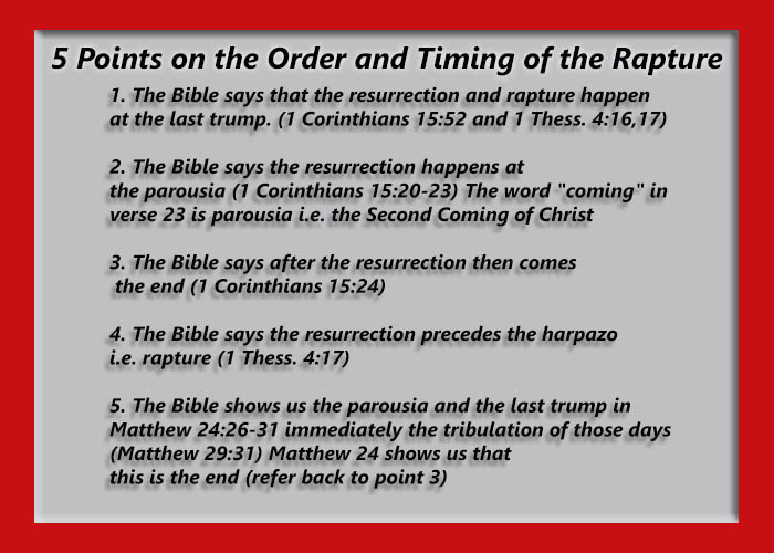 The Rapture in 5 Points